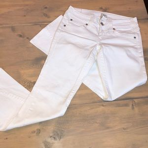 True religion JOEY bootcut white denim jeans